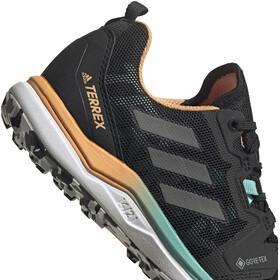 adidas TERREX Agravic GTX Trail Running Shoes Women core black/grey four/hazy orange